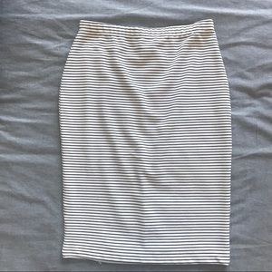 Wayf Striped Fitted Pencil Skirt